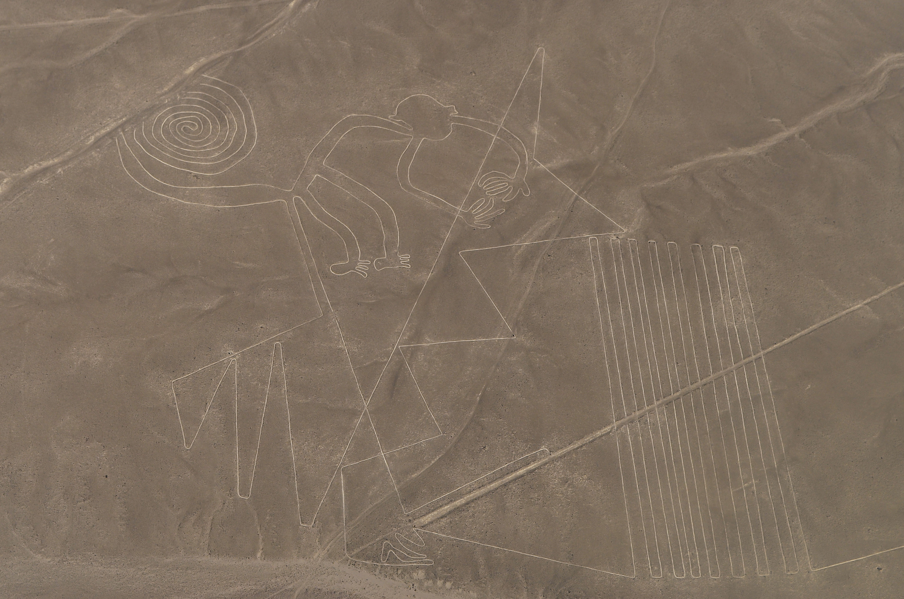 Lines and Geoglyphs in the Nazca desert