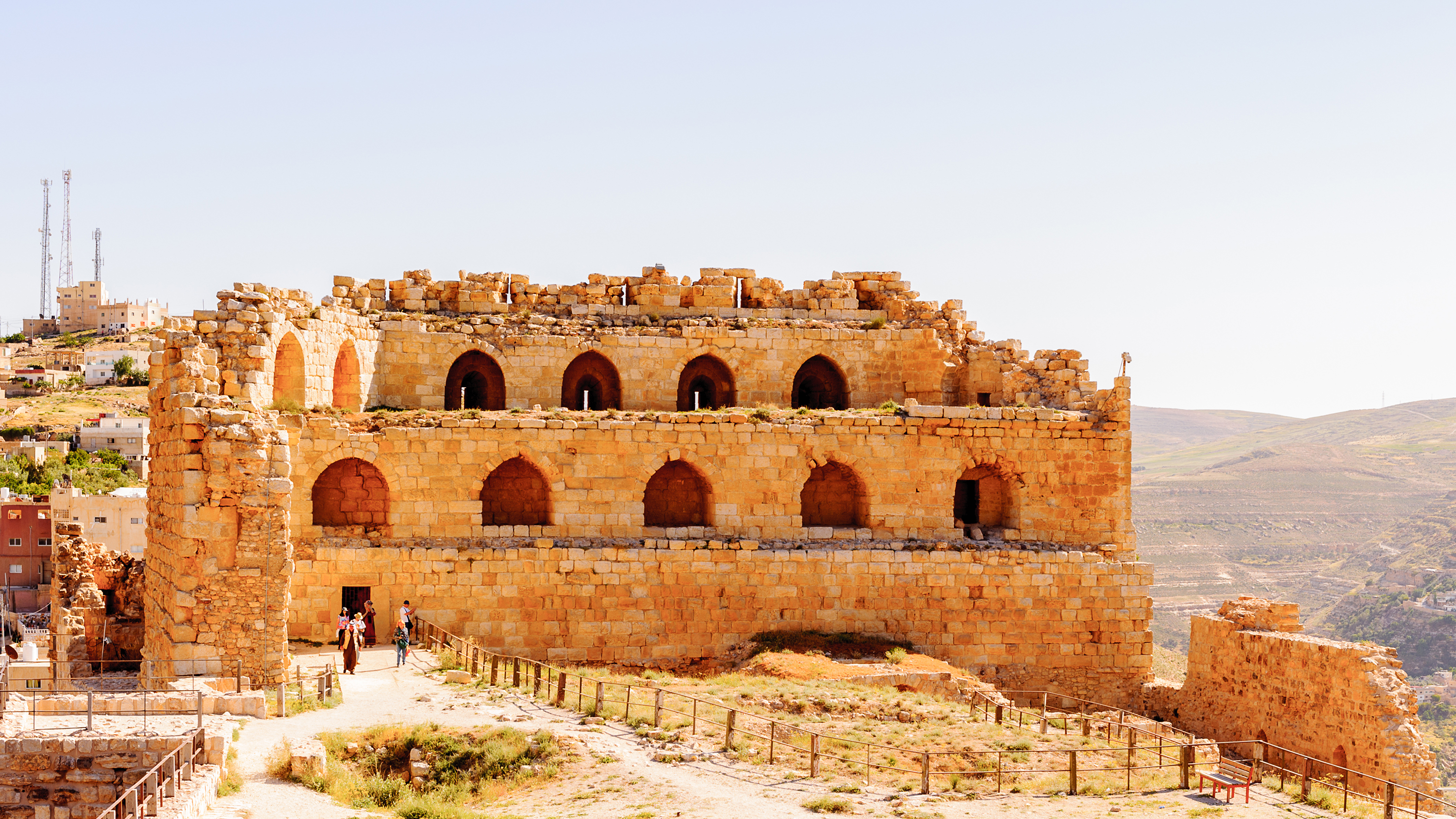The mighty Kerak Crusader castle