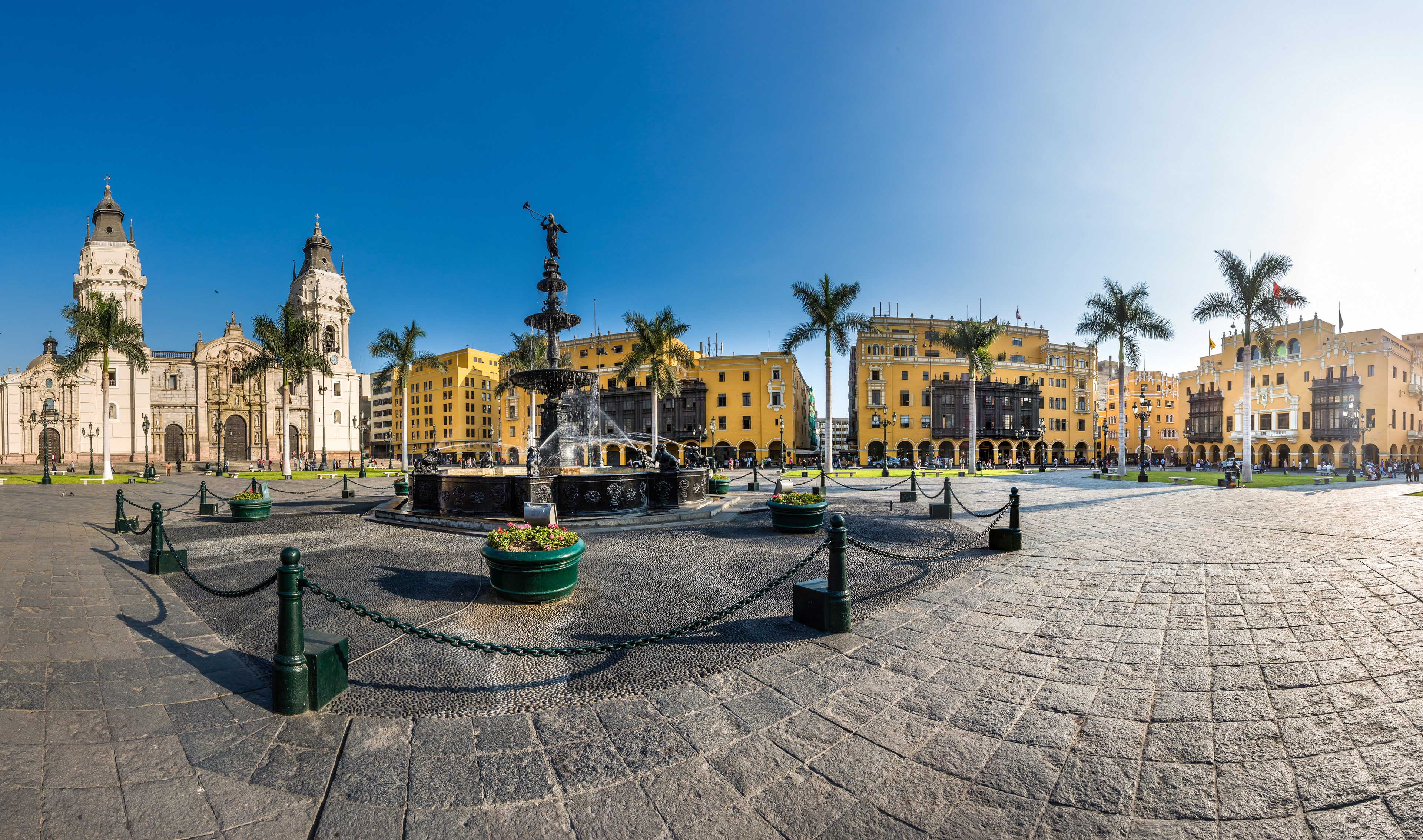 Lima main square and cathedral