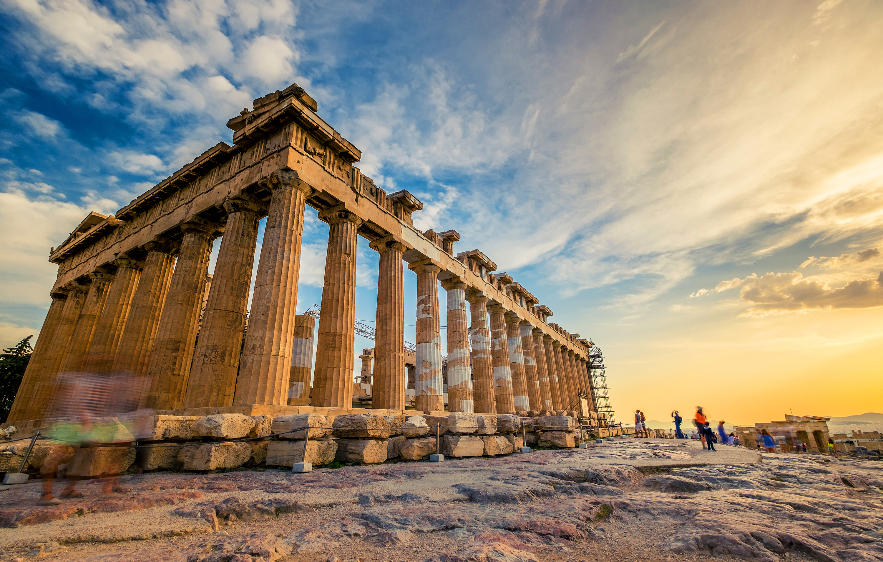 Parthenon at sunset